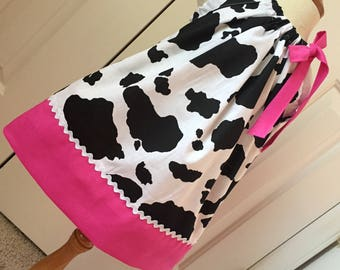 Barnyard Cow Pink & Cow Print Pillowcase  Dress