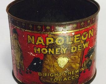 Napoleon Honey Dew Bright Chewing Tobacco Tin