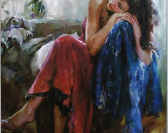 Dreaming of Love by Michael and Inessa Garmash Limited Edition Giclee on Canvas (30 x40).