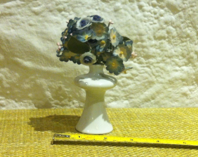 Vintage Porcelain Flower vase Floral Decoration Miniature Dollhouse Accessoires