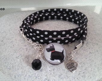 """""""Scottish"""", Cabochon, heart and pearl bracelet"""
