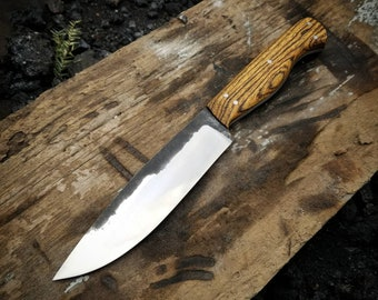 Hand Forged clip point bushcraft knife