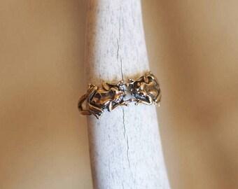 Gold frog ring Etsy