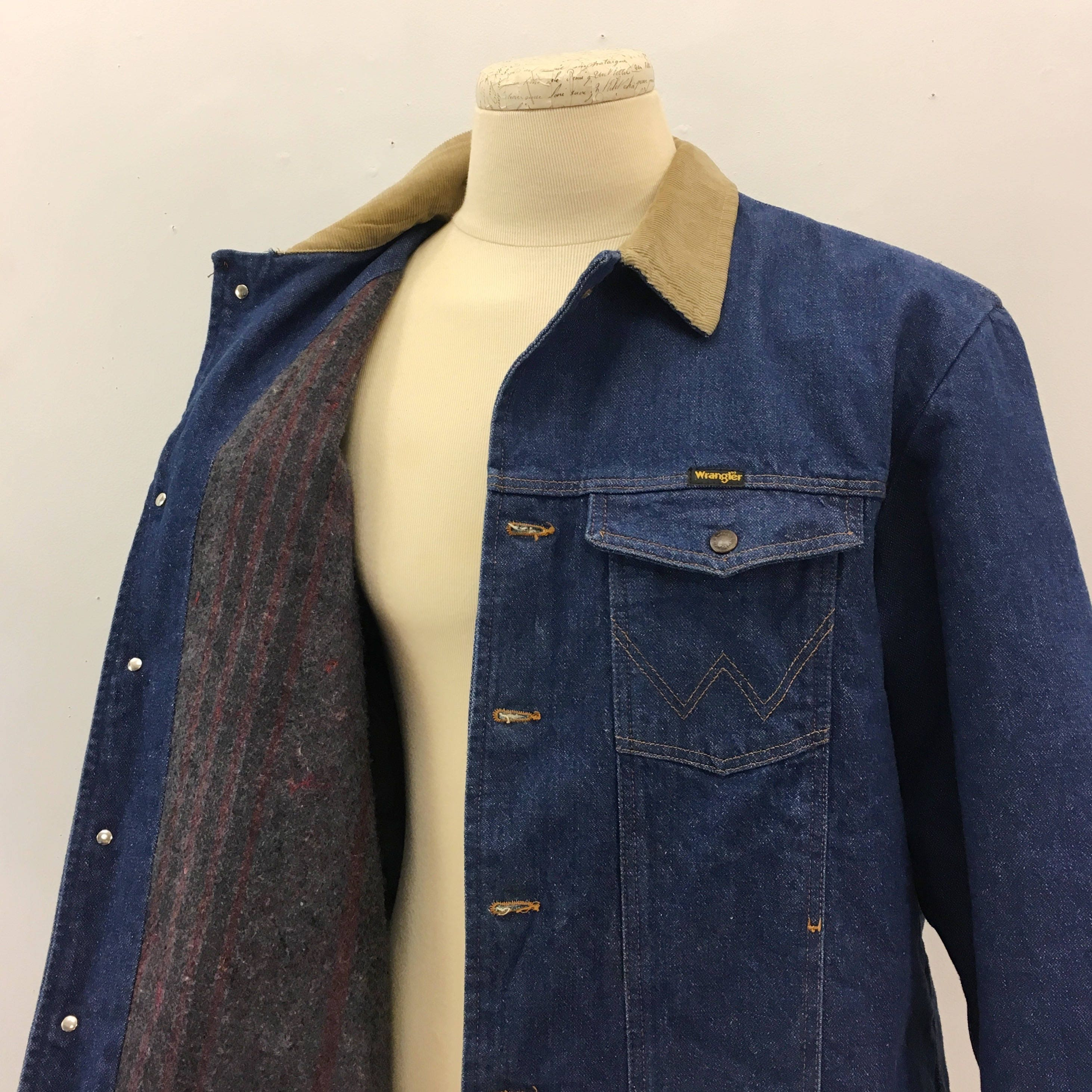 Herren Wrangler Jeansjacke Vintage 1970 authentischen