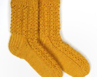 Hand knitted womens wool socks
