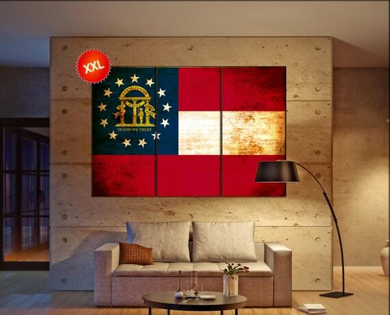 georgia state flag  canvas georgia state flag  wall decoration georgia state flag  canvas art georgia state flag large canvas