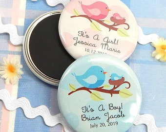 "Baby Shower Favor Magnets, Personalized 2.25"" Magnets - Set of 24"