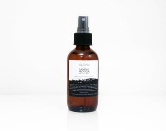 Aftershave: SANDALWOOD + WITCH HAZEL - mens natural aftershave spray, mens grooming gifts, sandalwood, small gifts for men, gift ideas