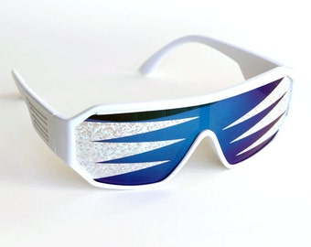 Rasslor Side Spikes Party Shield Sunglasses