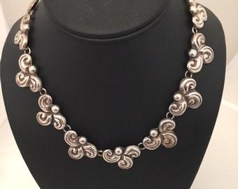JSF 925 Taxco Mexico Necklace - SWIRLS - CHOKER