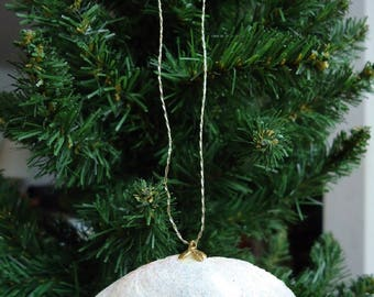 Medium Glittery Shell Christmas Tree Ornament Decoration