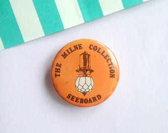 """1.5"""" 70s Vintage pin badge button Milne Collection Electric Seeboard pingame flair"""