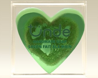 Handmade natural loofah soap