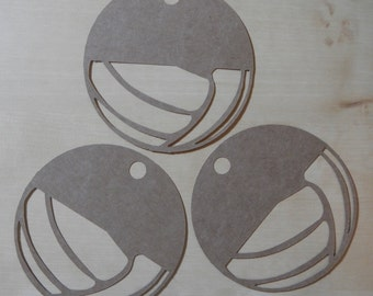 Large Kraft Volleyball Gift Tags, Blank Tags; Set of 12