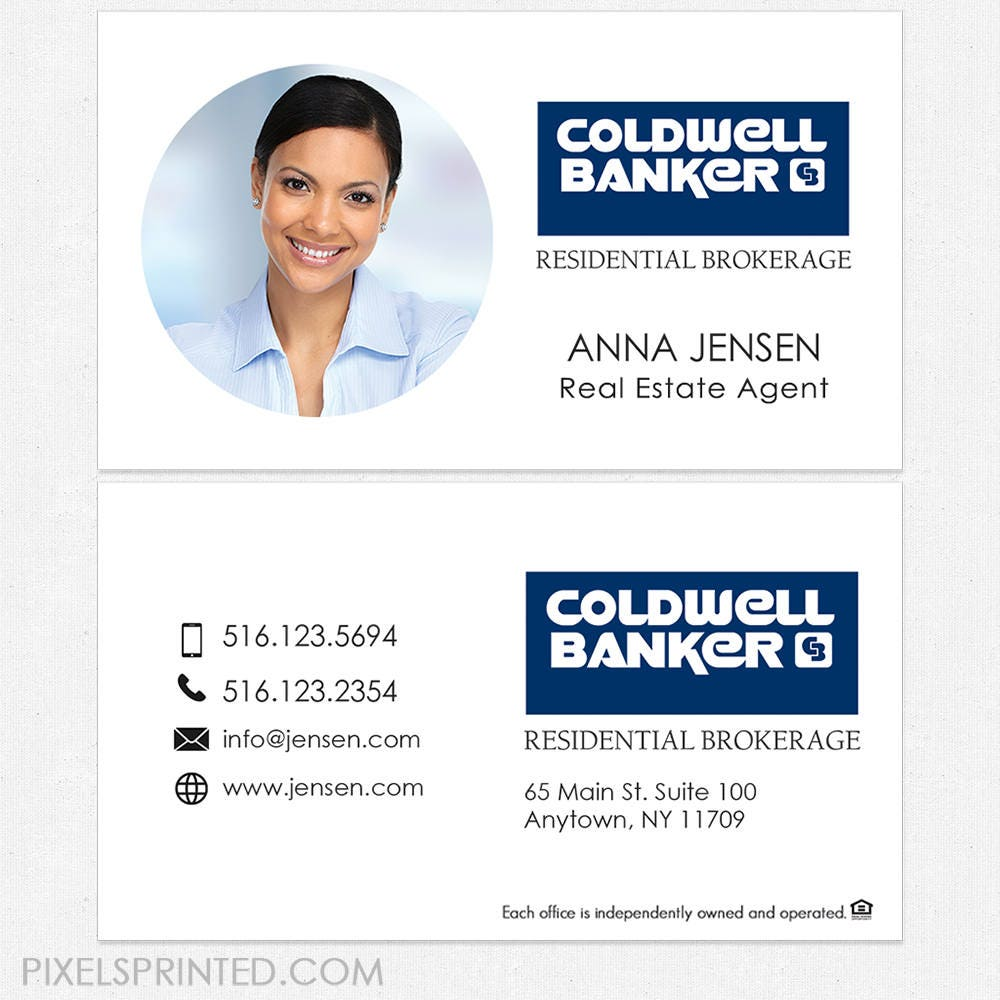 Coldwell Banker real estate business cards thick color both