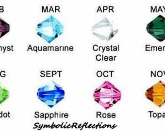 Add a 4mm Swarovski crystal charm - Add a Crystal charm - Add a birthstone charm - Swarovski charms - Birthstone add on - Charm for jewelry