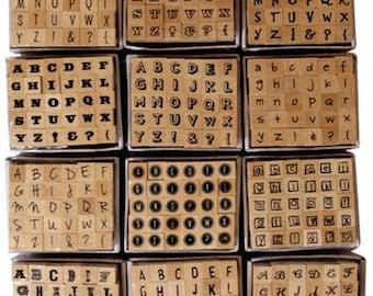 Wholesale lot of 360 mini stamp ALPHABET letter scrapbooking scrap card 1x1cm