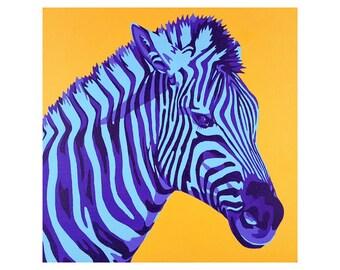"Limited Edition Print - ""UV Zebra"""