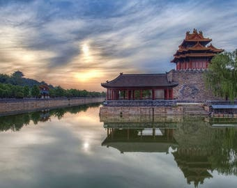 Laminated placemat China Beijing forbidden city