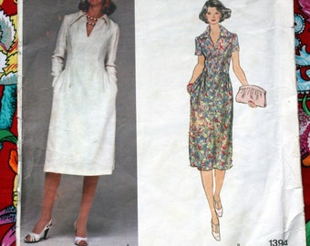 Vintage Vogue Designer Original Sewing Pattern 1394 Sybil Connolly size 12