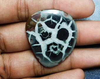 42.80 Cts Natural Top Quality Septarian Gemstone Cabochon Fancy Shape 37x31x3.5MM