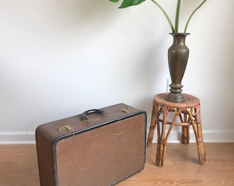Vintage Dresner Bown Small Suitcase Tweed Suitcase Chicago / Vintage Luggage