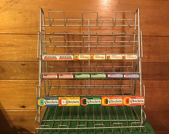 Vintage 1940/50's chiclets chewing gum store display in great condition