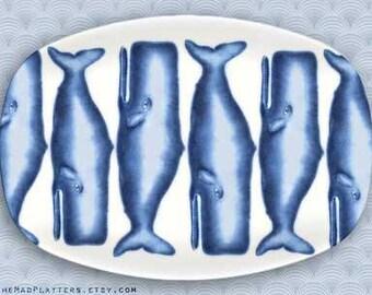 whales, blue whale platter