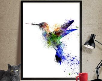 Watercolor Bird, Watercolor painting, Art print, Home decor, Bird painting, Bird wall art, Watercolor Art Poster, FineArtPrint, wall art(47)