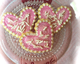 Heart Shaped Fake Biscuit Cookies