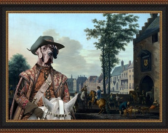 Great Dane Art CANVAS Print Fine Artwork  Dog Portrait Dog Painting Dog Art Dog Print  Perfect Dog Lover Gift for Her Gift for Him