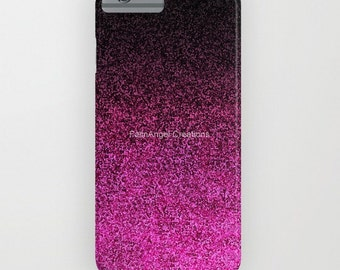 Pink and Black Glit Gradient Phone Case 18 Styles Available! - iPhone, iPod, and Samsung Galaxy!