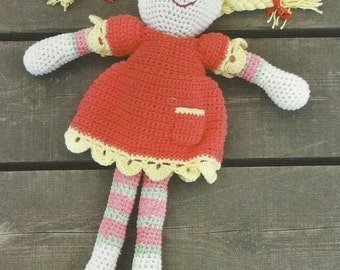 Crochet Rag Doll PDF Crochet Pattern Dolly Instant Download