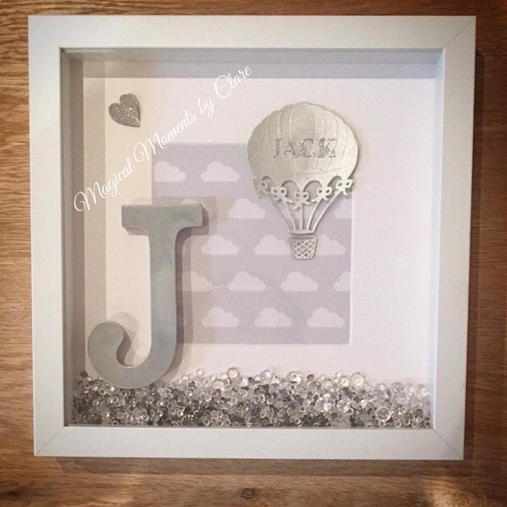 Hand made Initial frames for birthdays weddings New Born or
