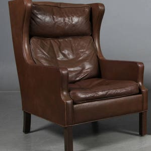 Leren Lounge Fauteuil.Lederen Lounge Stoel Perfect Kristian Solmer Vedel Modus Easy Chair