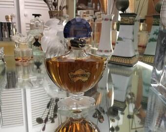Vintage Shalimar Perfume, Guerlain Paris, Eau de Parfum,  1 ounce, Original Label and Stopper, French Perfume, 30 CC, 30ML