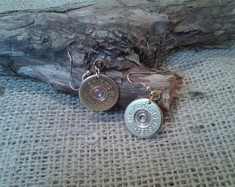 12 Gauge Herters, Wire Earrings - Single or Pair - Hand Made From real shotgun shells