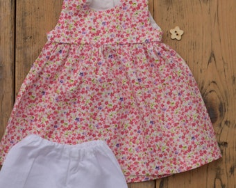 """Floral tunic/ dress for Waldorf Dolls 14"""", 16"""""""