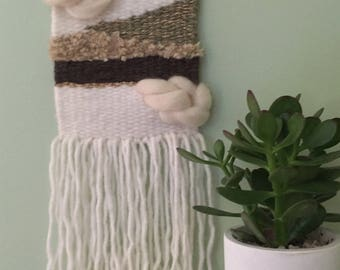 DIY complete kit to make yourself a weaving wall (with loom and accessories, thread, wool, pin made of wood and tutorial)