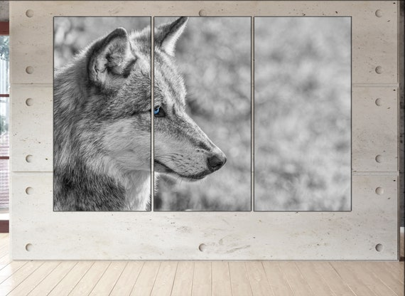 Wolf  canvas wall art Wolf wall decoration Wolf canvas wall art art Wolf large canvas wall art  wall decor