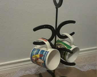Small horseshoe mug holder