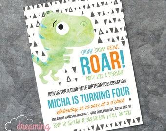 Dinosaur Birthday Party Invitation - any age!