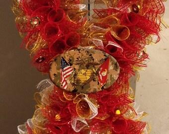 Marine Corp Ribbon Wreath