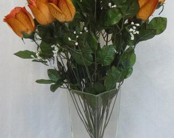 Gold Rose Bud Bush X 24  (Pack of 6)