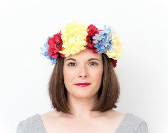 Chloe; Flower Crown, Floral Crown, Festival Headpiece, Boho Wedding, Wedding Flower Crown