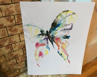 Original Butterfly Watercolor (print)