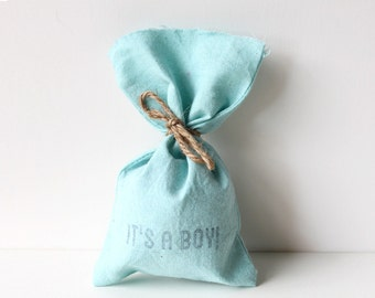 It's a boy! baby shower favour bags, blue shower favours, baby shower favours, it's a boy favours x 10
