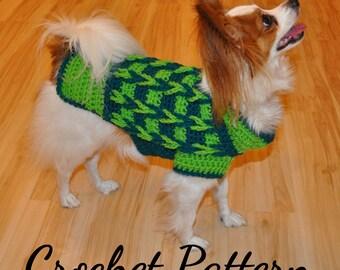 CROCHET PATTERN, Dog Sweater Pattern, Dog Clothes, Pet Clothes, Crochet Sweater, Crochet Dog Sweater, Small Dog Sweater, Sweater Pattern