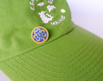 Girl Scout Jewelry, Free Shipping, World Badge Pin, Girl Scout Shamrock, WAGGGS Jewelry, Trefoil Badge, Girl Scout Promise Pin Badge