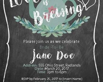 Love is Brewing - Bridal Shower Invitation